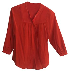 Madewell Top Red Orange