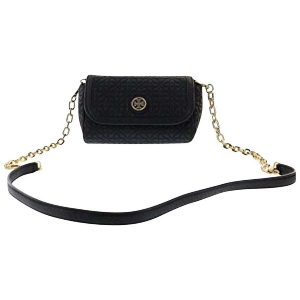 b33c3962c65 Tory Burch Bryan Quilted Small Black Leather Cross Body Bag - Tradesy