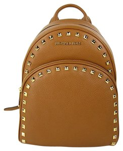 ebfbff3760a Michael Kors Abbey Medium Frame Out Stud Acorn Leather Backpack ...