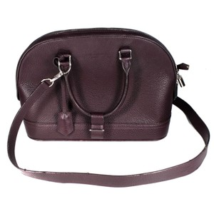 Louis Vuitton Maroon Leather Handle Strap Shoulder Bag 47b470e695