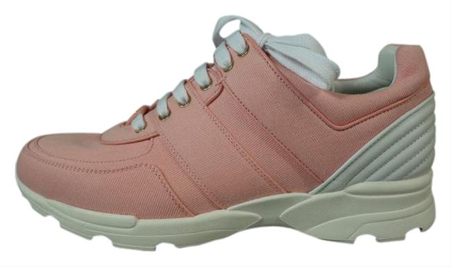 Chanel Salmon Pink Canvas Leather Lace