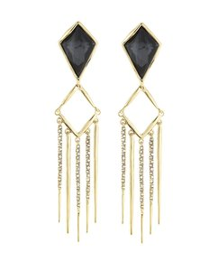 Alexis Bittar Alexis Bittar Miss Havisham Crystal Fringe Dangle CLIP ON Earrings