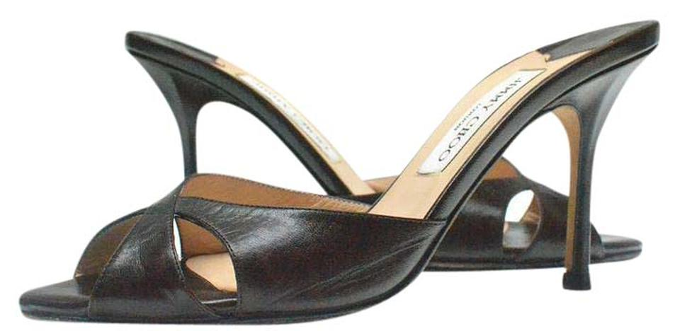 Jimmy Sandals Choo Brown - Leather Sandals Jimmy - - Mules/Slides daed32