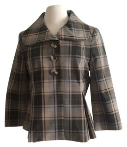 Isaac Mizrahi Blazer plaid Jacket