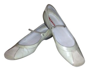 Prada Mary Ballet Patent Leather Mint Green Flats