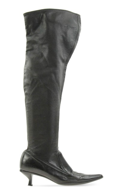 Item - Black Leather Vintage Over The Knee Boots/Booties Size EU 40 (Approx. US 10) Narrow (Aa, N)