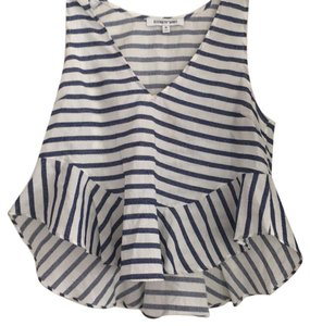 Elizabeth and James Top navy and white