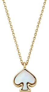 Kate Spade KATE SPADE 12K Gold Plated Signature Imitation Mother-Of-Pearl Pendant