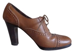 J.Crew Italian Made In Italy Brown Leather Pumps