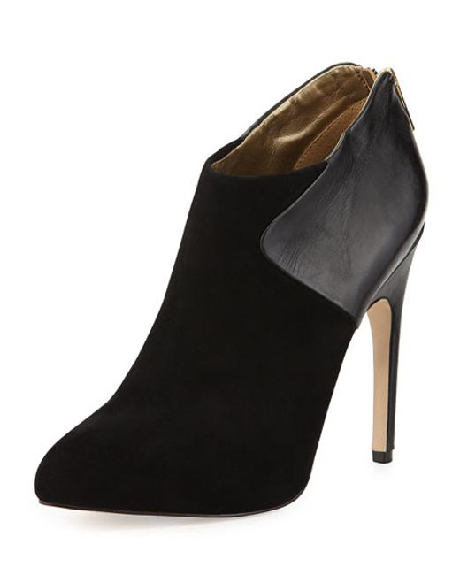 Item - Black New - Jacelyn Mixed Media Suede Boots/Booties Size US 9 Regular (M, B)