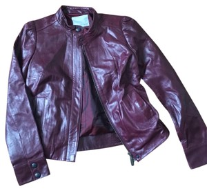 Classique burgundy leather Leather Jacket