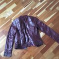Classique Burgundy Leather Military Style Bomber Jacket Size 2 (XS) Classique Burgundy Leather Military Style Bomber Jacket Size 2 (XS) Image 6