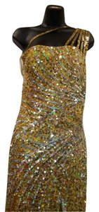 Precious Formals Formal Gold One Celebrity Look Dress