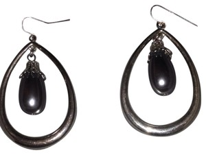 Hoop Oval Dangle Earrings
