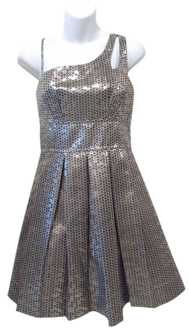 Teeze Me short dress Silver/Gold Flounce Sequin Metallic Cocktail Party on Tradesy