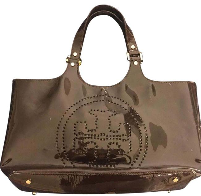 Item - Bombe Chocolate Brown Patent Leather Tote