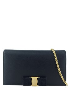 Added to Shopping Bag. Salvatore Ferragamo Cross Body Bag. Salvatore  Ferragamo Vara Chain Wallet Black Leather ... 95d05902b2a14