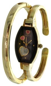 Elgin Womens Elgin Bangle Watch and Bracelet Set Raining Heart Dial ELS32