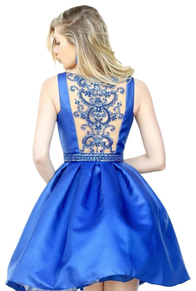 59e0bb81af2 Sherri Hill Royal 50505 Sherri Short Formal Dress Size 4 (S) - Tradesy