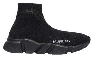 Balenciaga Black Glitter Athletic
