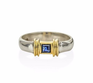 36d693e9b Tiffany & Co. Tiffany & Co Blue Sapphire Ring in 18k Gold & Sterling Silver