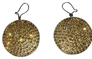 bebe Gold Rhinestone Earrings