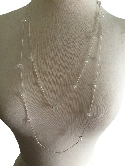 Charming Charlie silver & crystal necklace