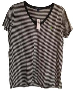 Ralph Lauren T Shirt black and white stripe