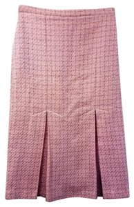 Valentino Brand Pleated Size 2 Xs Color Skirt Pink