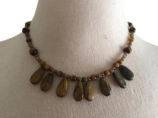 Preload https://item4.tradesy.com/images/tiger-s-eye-one-of-a-kind-necklace-2196378-0-0.jpg?width=440&height=440