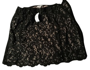 Ann Taylor LOFT Pencil Mini Skirt Black Lace