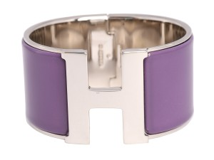 Herms HERMES EXTRA WIDE PURPLE CLIC-CLAC