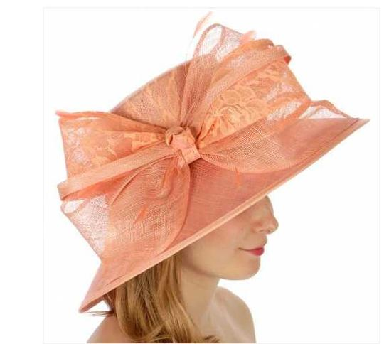 kentucky derby hat New Lace covered sinamay hat formal hat dressy hat Image 1