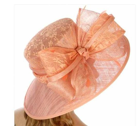 kentucky derby hat New Lace covered sinamay hat formal hat dressy hat Image 2