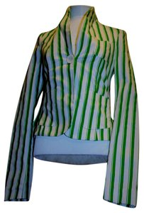 Fornarina Jacket Nautical Striped Leaf Green and Angel White (brand new) Blazer