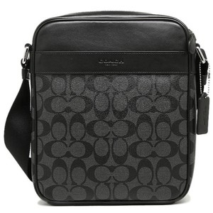 Coach Mens F54788 F54788 54788 CHARCOAL/BLACK Messenger Bag
