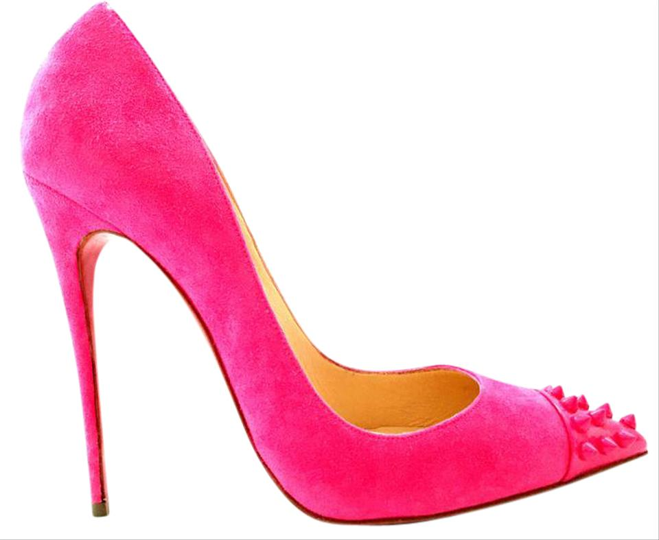 f07d668dbf88 Christian Louboutin Ankle Boots Spikes Studs Pigalle Hot Pink Pumps Image 0  ...