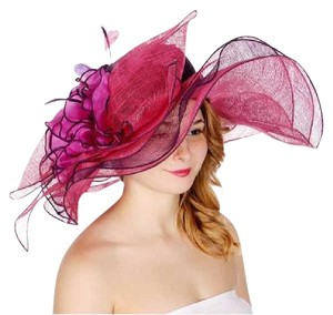 kentucky derby hat New formal hat dressy Large bow & flower two tone sinamay hat