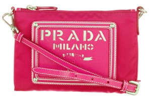 Prada Saffiano Tessuto Bandoliera Logo Cross Body Bag