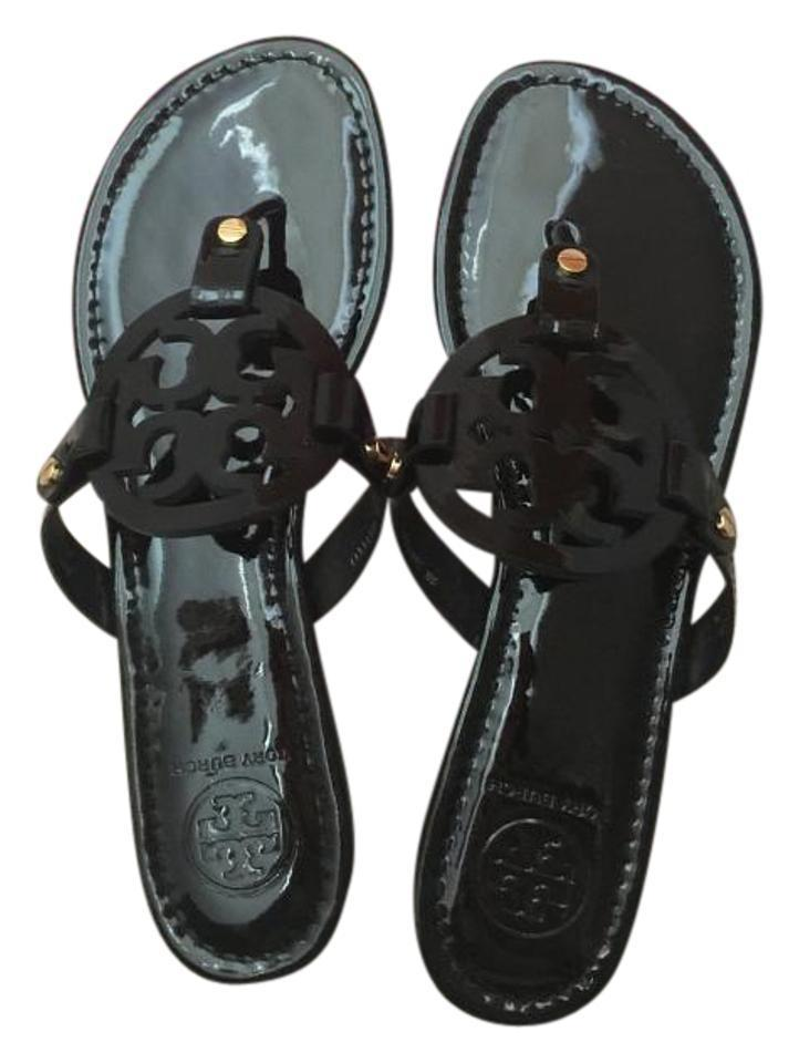9282231060aa3 Tory Burch Black 8.5m Miller Patent Calf Sandals Size US 8.5 Regular ...