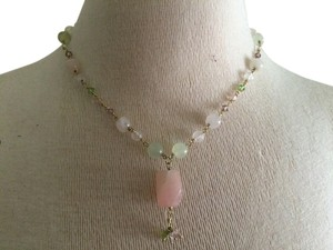 Handmade handmade rose quartz necklace