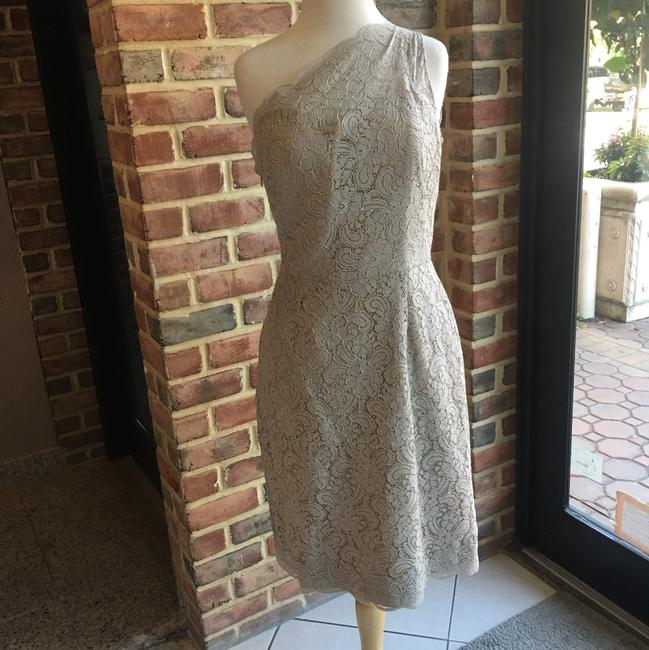Item - Taupe Lace 5214 Dove/Bronze/ Casual Bridesmaid/Mob Dress Size 10 (M)