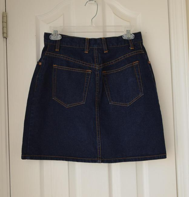 New York & Company Skirt Dark Blue