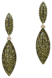 Other Olivine Green Crystal Accent Drop Earring
