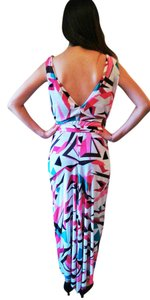 pink/brown/green/black multi Maxi Dress by T-Bags Los Angeles