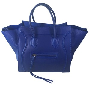 Céline Phantom Blue Penny Lane Tote in Cobalt Blue