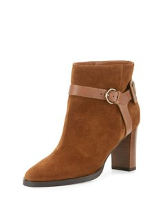Jimmy Choo Leather Rockstud Studded Brown Boots