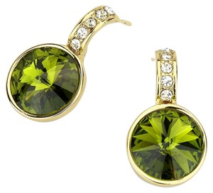 Other Green Austrian Crystal Gold Post Earring