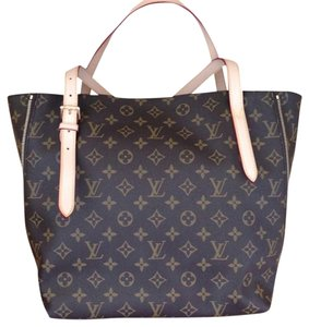 Louis Vuitton Leather Canvas Like-new Zipper Adjustable Strap Tote in Monogram