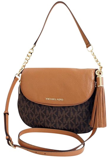 afd98e5241293 Michael Kors Mk Bedford Tassel Pvc Leather Brown Acorn 35t7gbfl2b Shoulder  Bag Image 0 ...